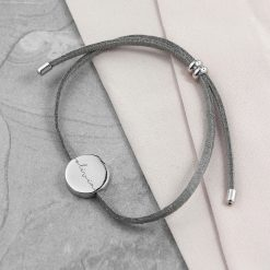 Personalised Always with You Name Grey Bracelet 9