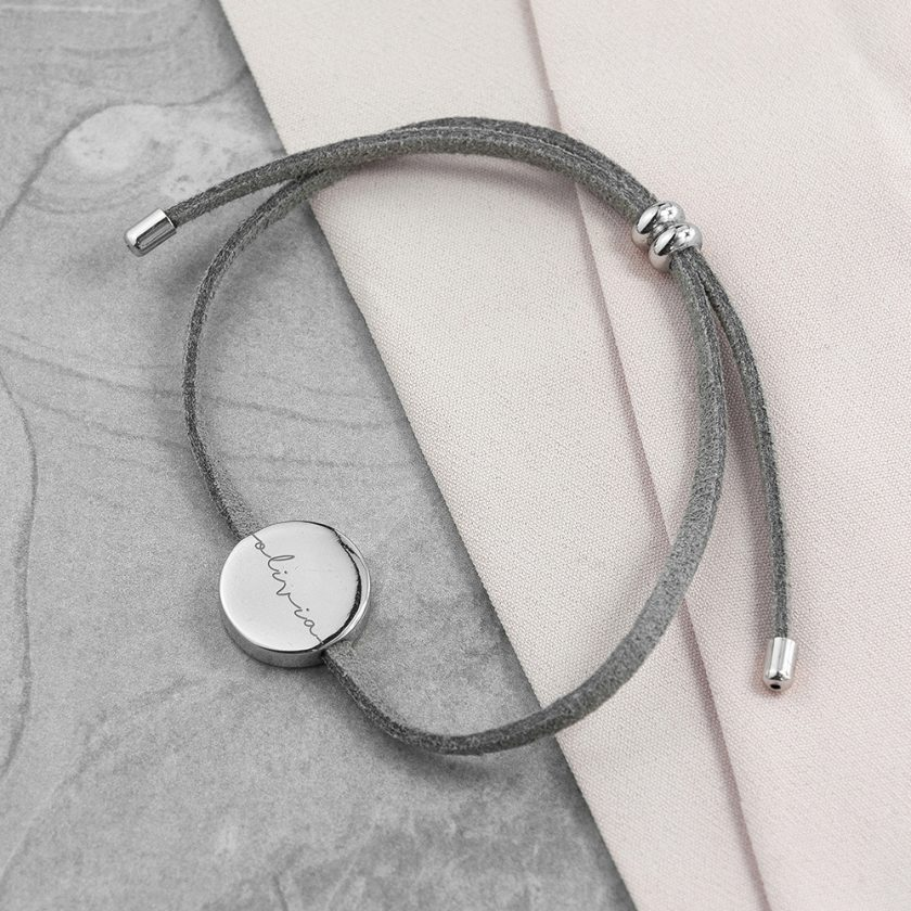 Personalised Always with You Name Grey Bracelet 2