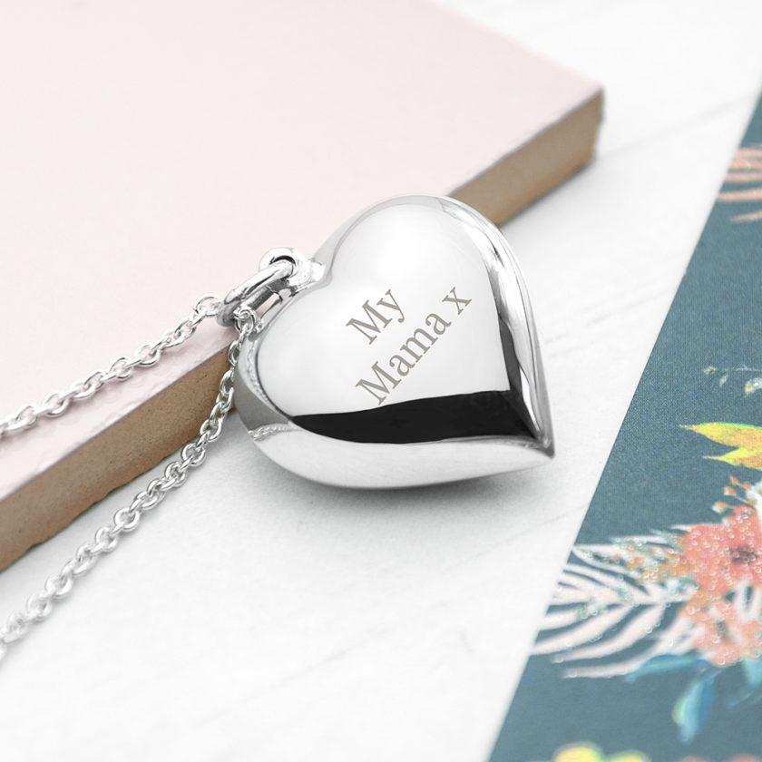 Personalised Cherish Heart Necklace 1