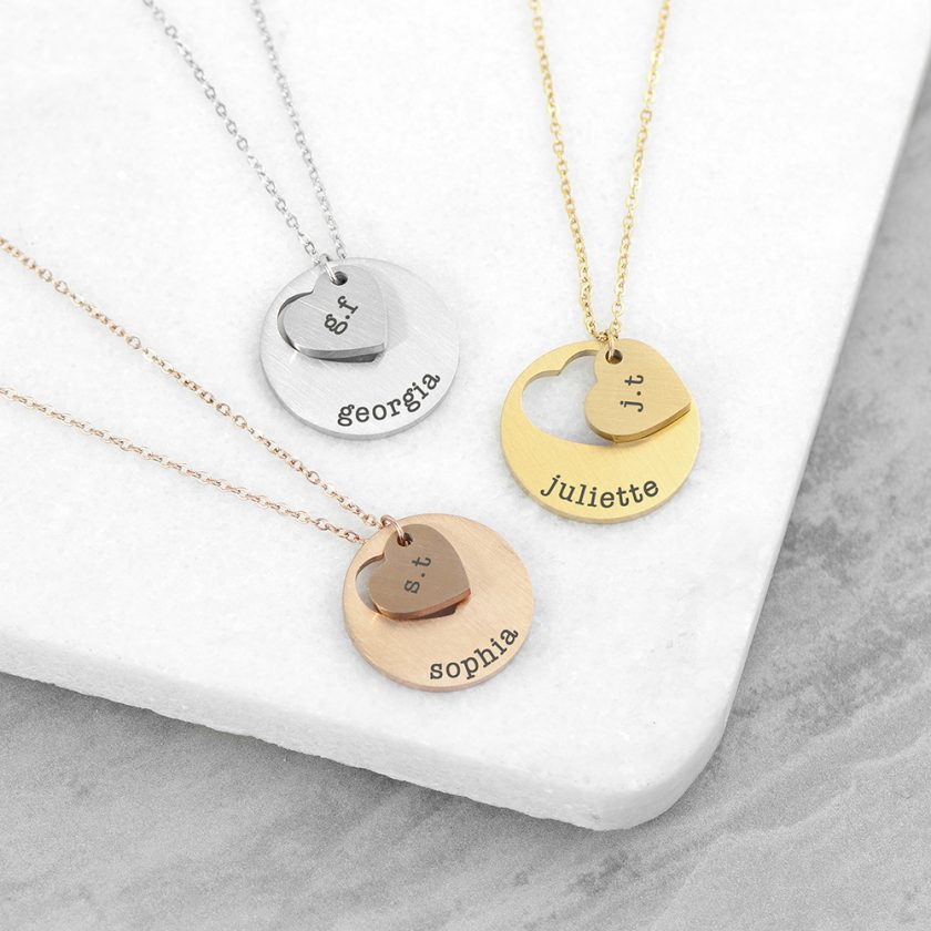 Personalised Cut-Out Heart Shape Necklace 1