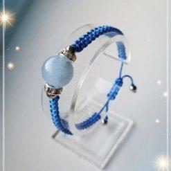 Aquamarine Braided Bracelet