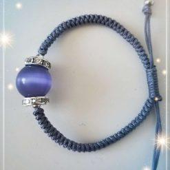 Purple Cats eye Gemstone Bracelet