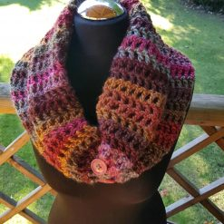 Handmade crocheted cowl/neck wrap multi coloured 10