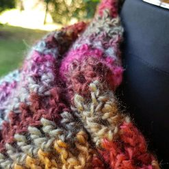 Handmade crocheted cowl/neck wrap multi coloured 9