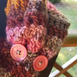 Handmade crocheted cowl/neck wrap multi coloured 11