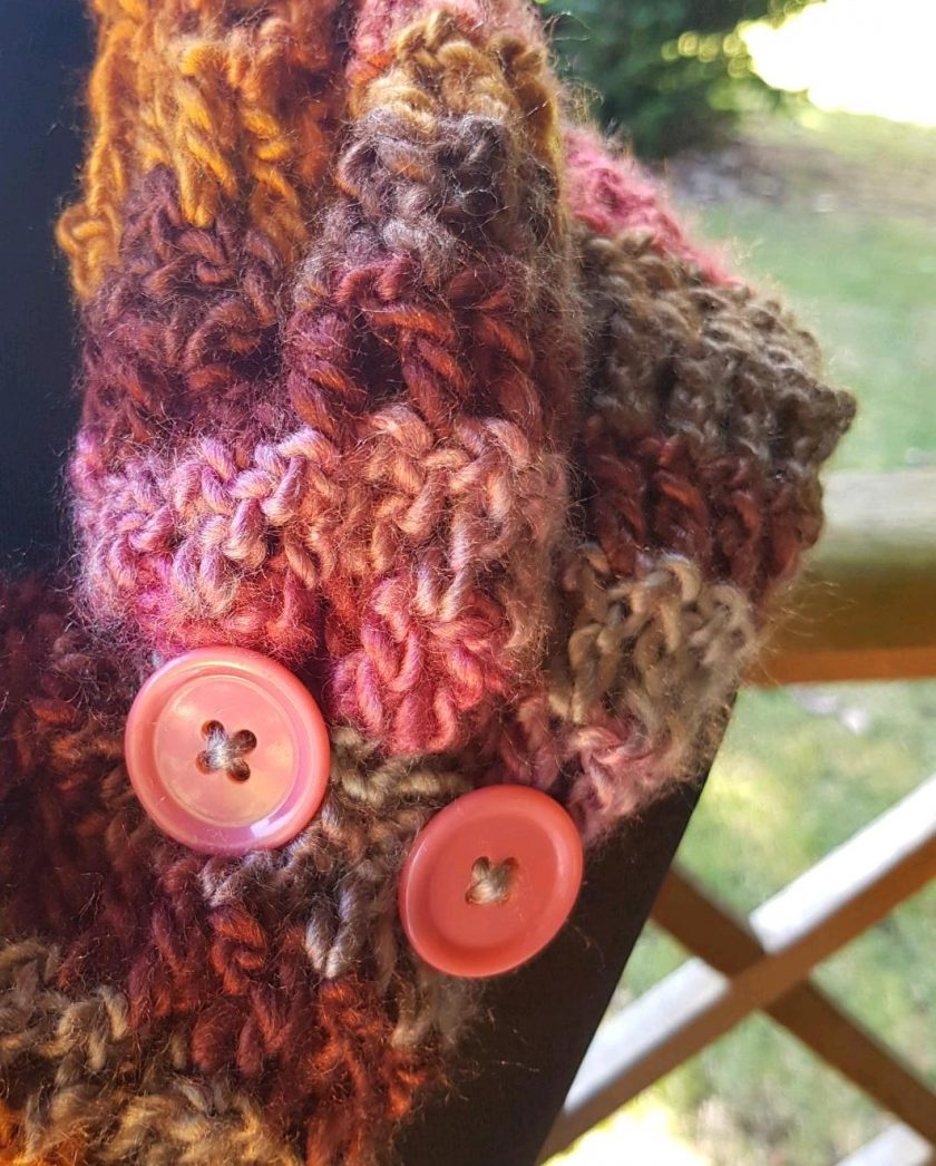 Handmade crocheted cowl/neck wrap multi coloured 6