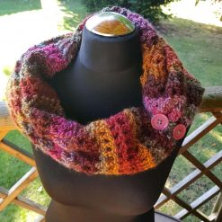 Handmade crocheted cowl/neck wrap multi coloured 8