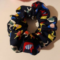 Elephant hair scrunchie made with 100% cotton fabric