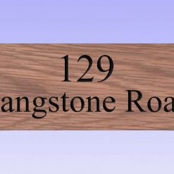 Style 8 solid oak carved plaque (30 x 10 cm)