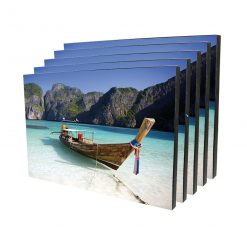 Personalised Rectangle Chromalux Wooden Photo Panel with FREE SHIPPING
