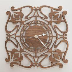 Oak, Walnut or Cherry - Wood Engraved Celtic Wall Clock