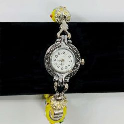 European Style Beaded Charm BRACELET WATCH Yellow