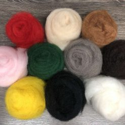 Carded Corriedale Needle felting wool - 5 colour box