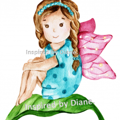 Art Stickers, Sticker for Wall, Furniture and DIY Projects - Decal- Transfer- Vintage -Fairy Girl  Magical / 039