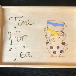 Wooden Tray decorated with Pyrography