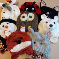 Character knitted hats - baby size