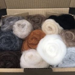 Carded Corriedale Needle felting wool - 12 animal colours