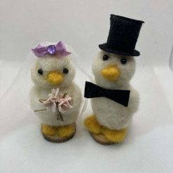 Mr and Mrs Lord and Lady Aylesbury wedding cake topper