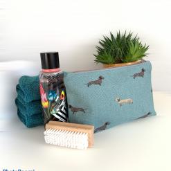 Small Wash Bag - Dachshund print