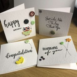 Selection of handmade greeting cards - 4 per pack