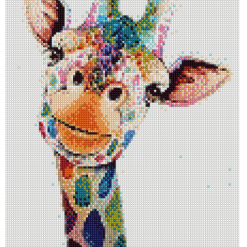 BlueOwl- Cross Stitch 18 count Kit 20x29 cm Abstract Giraffe (101070)