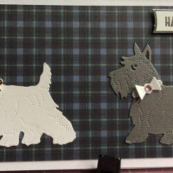 handmade happy birthday card - Scottie dogs