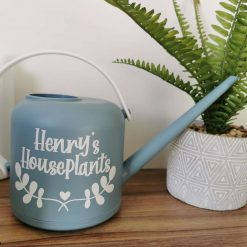 Blue and White Personalised Watering Can 1.8l - Perfect Gift Idea