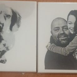 Personalised Laser Etched Photo Tile, Coaster or Display