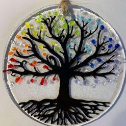 Small Fused Glass Rainbow Tree of Life