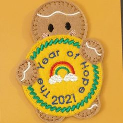 The Year of Hope 2021 Gingerbread Man Hanging Decoration