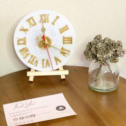 Sparkling Gold Clock l Home Deco | Handmade | Wall Clock |