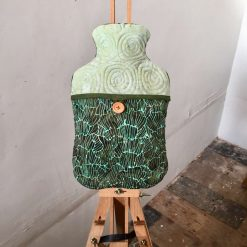 Cover - Hot Water Bottle, 2L - Jurassic Green - Batik, 100% Cotton, Quilted
