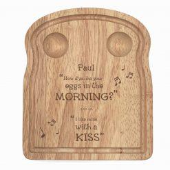 Valentine/Love Breakfast In Bed Dippy Egg Boards  - Free Postage