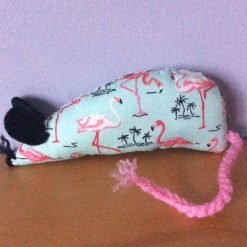 Handmade Catnip Mouse - Flamingo - Cat Toy with Extra Strong Catnip- FREE POSTAGE