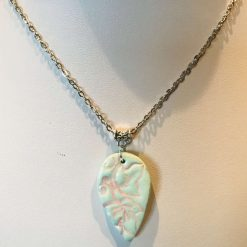 Green and pink pendant
