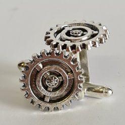 Steampunk cog cufflinks