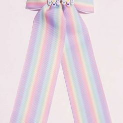 Rainbow Striped Hairbow