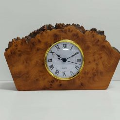 Bespoke Burr Elm Mantle Clock