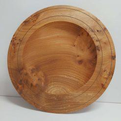 Collaborative Turned Bespoke Burr Elm Platter