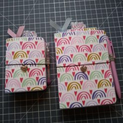 Set of rainbow Travellers notebooks A6 and A7
