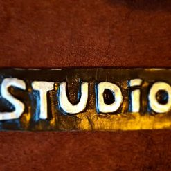 'Studio' sign in black/silver #1