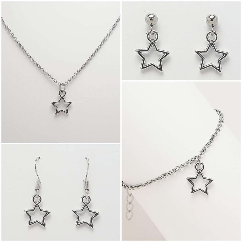 -Star Necklace, Earrings, Bracelet, Jewellery (Priced Individually) 1