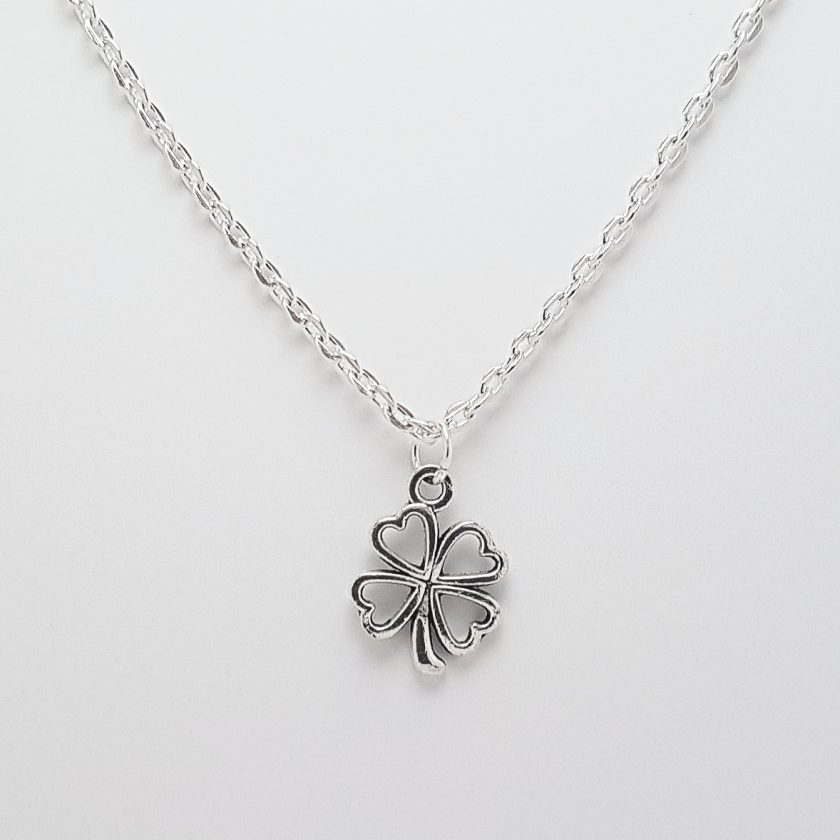-Individually Priced- Clover Irish Shamrock Lucky Pendant Necklace, Earrings, Bracelet, Jewellery Set | Birthday Christmas Mothers Mother's Day Valentine Anniversary Easter Good Luck St. Saint Patricks Patrick's Gift Set Ideas 1