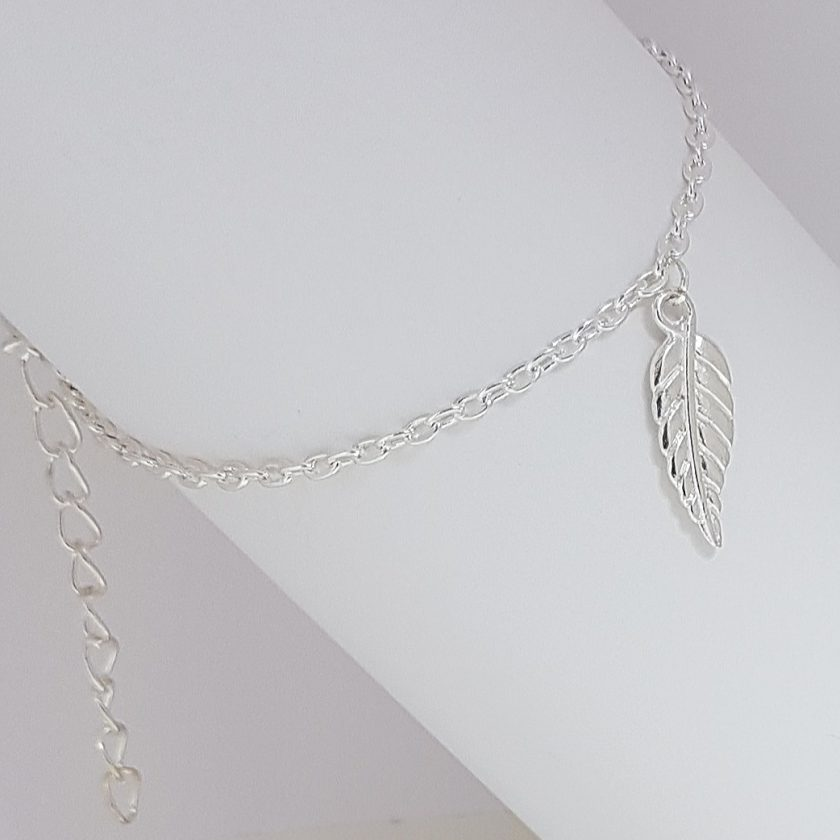 -Feather Leaf Bracelet, Earrings Jewellery Collection 2