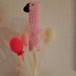 Flamingo Crochet Cake Topper