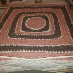Gorgeous Super Chunky Handmade Crochet Blanket / Double Bed throw / Afghan 60 inch x 60inch approx