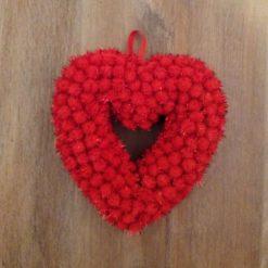 Hanging Pom Pom Heart