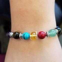 7 Chakra Gemstones Bracelet