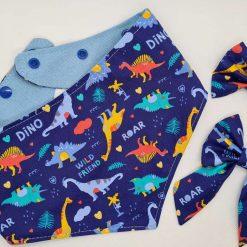 Blue Dino Bow