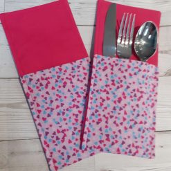 Handmade Valentine's Themed Dinner Meal Cutlery Holders/Case/Pouches/Pockets